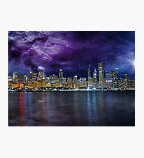 Spacey Chicago Skyline Photographic Print