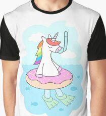 Unicorn Dive Graphic T-Shirt