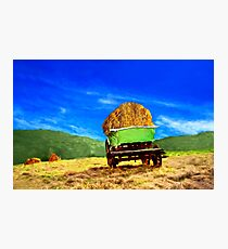 Hay Wagon Photographic Print