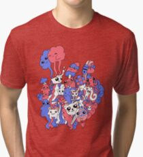Blue&Red Tri-blend T-Shirt