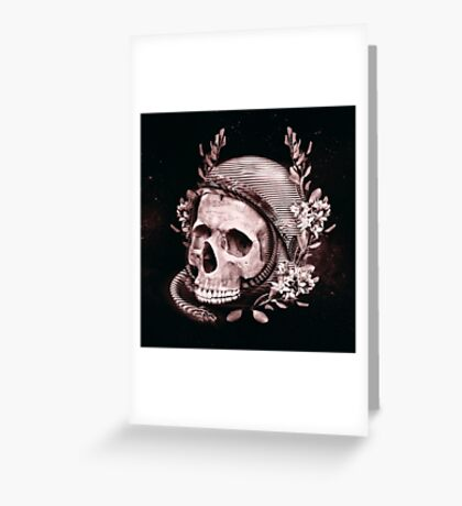 Astro Skull Greeting Card
