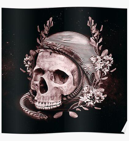 Astro Skull Poster