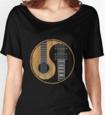 Acoustic Bass Guitar T Shirt Women's Relaxed Fit T-Shirt