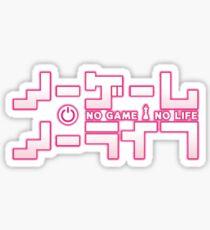 no game no life logo Sticker