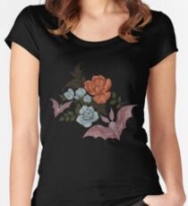 Botanical - moths and night flowers Women's Fitted Scoop T-Shirt