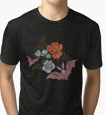 Botanical - moths and night flowers Tri-blend T-Shirt