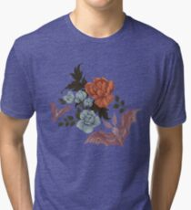 Botanical - moths and night flowers Tri-blend T-Shirt