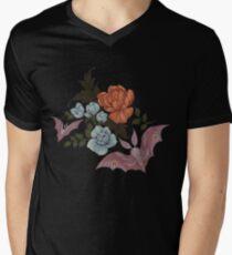 Botanical - moths and night flowers Men's V-Neck T-Shirt