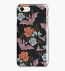 Botanical - moths and night flowers iPhone Case/Skin