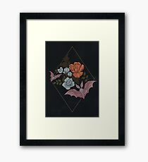 Botanical - moths and night flowers Framed Print