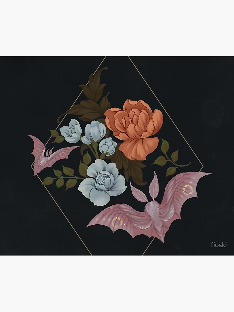 Botanical - moths and night flowers by fioski