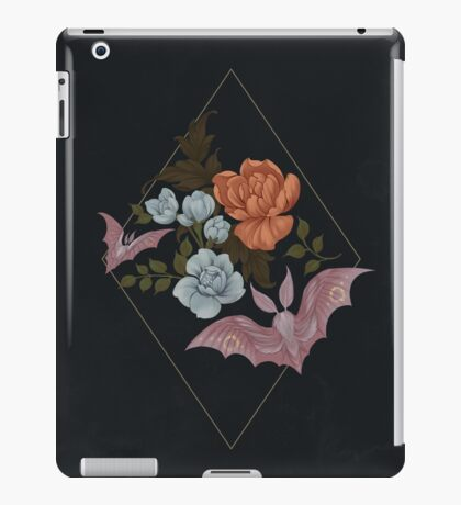Botanical - moths and night flowers iPad Case/Skin