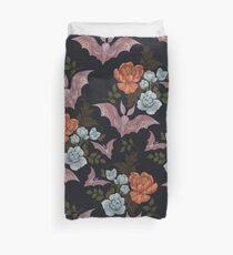 Botanical - moths and night flowers Duvet Cover