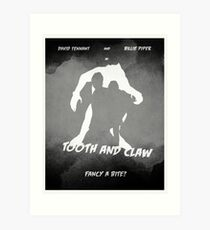 Tooth and Claw retro print Art Print