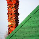 Red Chimney and Green Shingles by Alexander Greenwood