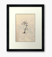 Little inky tree  Framed Print