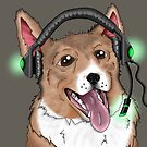 Gaming Corgi by LizardSpirit