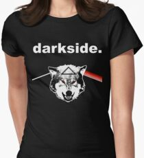 darkside. Womens Fitted T-Shirt