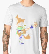 Funny Cool Foxy Red Fox Playing Guitar Men's Premium T-Shirt