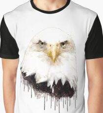 Watecolor Eagle Graphic T-Shirt