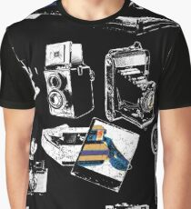 Captured Vintage Camera Repeat Graphic T-Shirt
