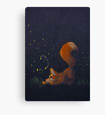 Firefly Fox - Orange Canvas Print