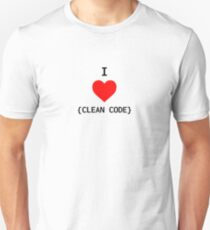 I Love Clean Code - Red Heart T-Shirt