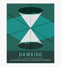 Science Poster - Stephen Hawking - Theoretical Physicist Photographic Print
