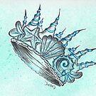 Underwater Seashell Crown by galacticdragon