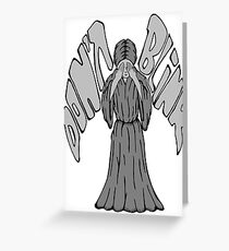 Don't Blink Weeping Angel Greeting Card