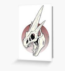 Pokemon - Mega Charizard Y Skull Greeting Card