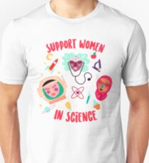 Support Women in Science Unisex T-Shirt