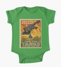 Vintage poster - Join the Tanks One Piece - Short Sleeve