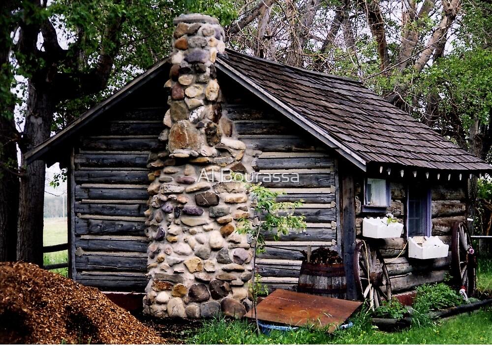 Rustic Log Cabin by Al Bourassa