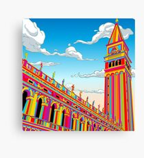 Saint Mark Bell Tower in Rainbow Canvas Print