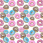 Doughnuts time pattern by BeeHappyShop