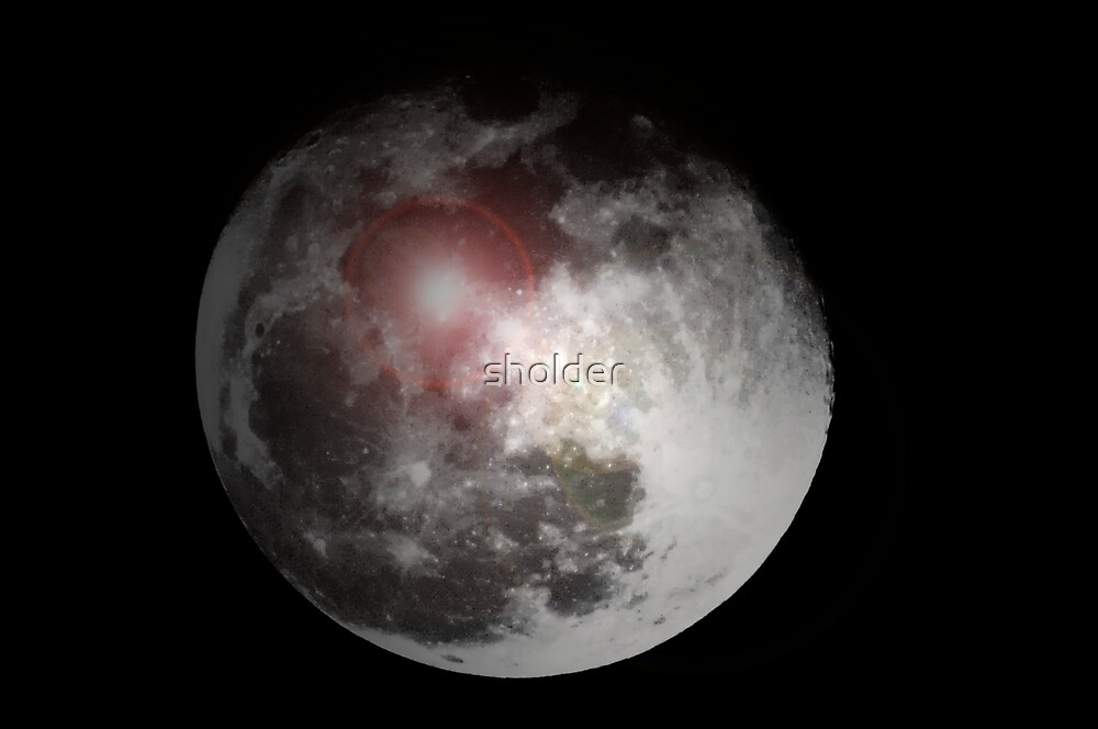 The altered moon by sholder