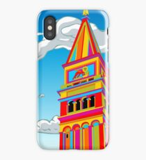 Saint Mark Bell Tower in Rainbow iPhone Case/Skin