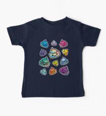 Cute Poop Emoji: Girls & Boys Rainbow Emoji Faces Baby Tee