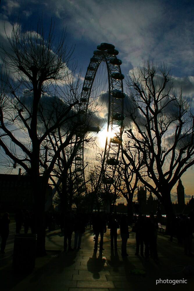 london eye silhouette by photogenic