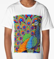 Paisley Peacock Long T-Shirt