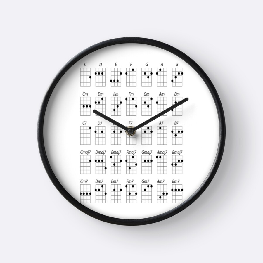 Ukulele chords clocks by forestkat redbubble ukulele chords by forestkat hexwebz Images