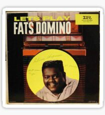 Lets Play Fats Domino, 50's Rock & Roll lp Sticker