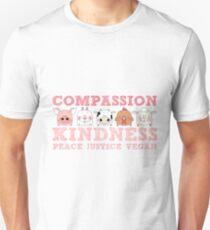 COMPASSION KINDNESS VEGAN Unisex T-Shirt