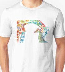 Giraffe Mommy and Baby Unisex T-Shirt