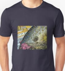 Colorful Flammarion Engraving The Sun and the Stars T-Shirt