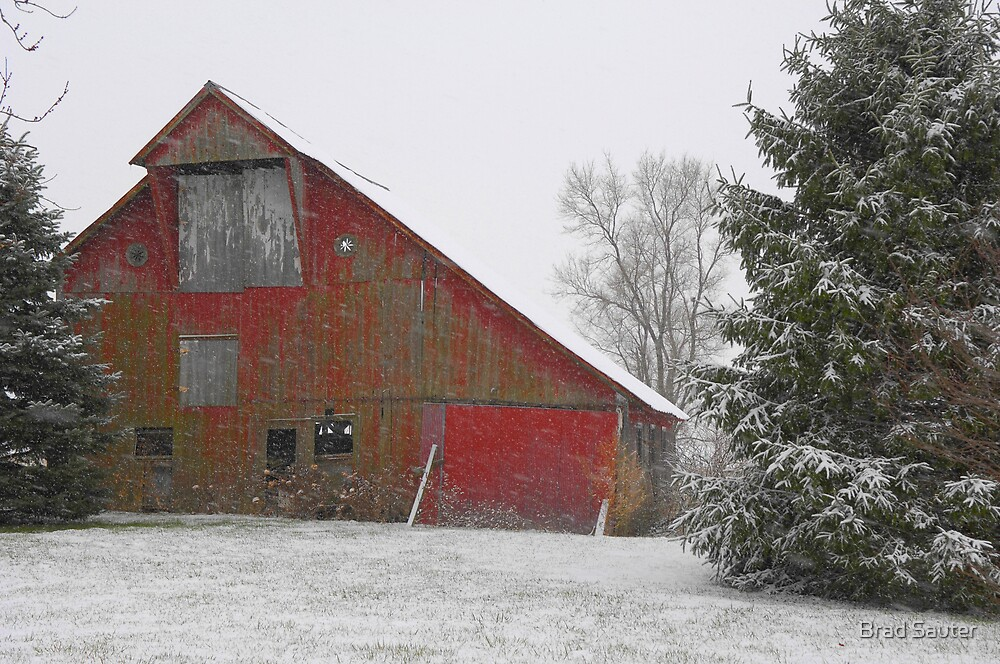 Winter Barn by Brad Sauter