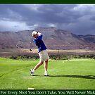 Golf Motivational Poster by Judson Joyce