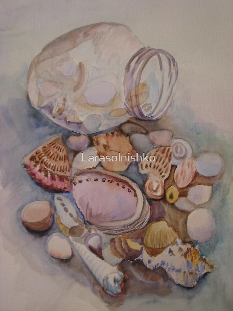 Sea jewellery from the glass jar by Larasolnishko