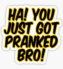 you just got pranked stickers redbubble